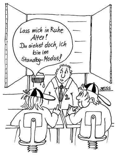 Cartoon: ohne Titel (medium) by besscartoon tagged schule,kinder,lehrer,respekt,computer,bess,besscartoon