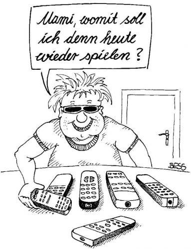 Cartoon: Qual der Wahl (medium) by besscartoon tagged kind,spielen,spielsucht,technik,bess,besscartoon