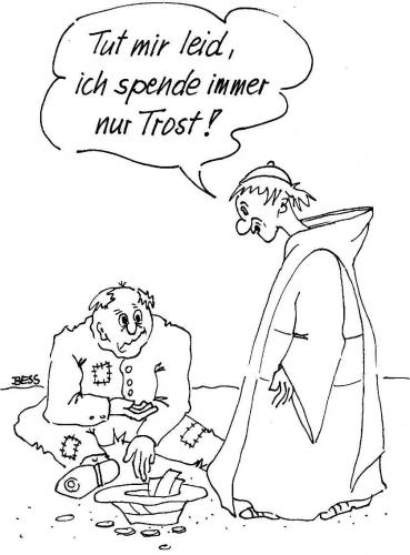 Cartoon: Spenden (medium) by besscartoon tagged kirche,pfarrer,männer,bettler,armut,spende,religion,bess,besscartoon