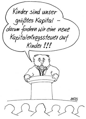 Cartoon: Steuern (medium) by besscartoon tagged kinder,mann,abgaben,steuer,politik,besscartoon,bess,kapital