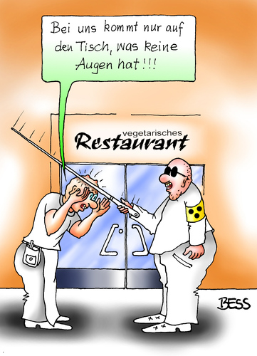 vegetarisches restaurant von besscartoon philosophie cartoon toonpool. Black Bedroom Furniture Sets. Home Design Ideas