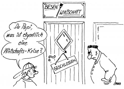 Cartoon: Wirtschaftskrise (medium) by besscartoon tagged besscartoon,bess,krise,wirtschaft,mann,kind