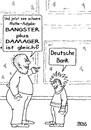 Cartoon: Bangster plus Damager (small) by besscartoon tagged bank,deutsche,bankster,finanzen,damager,mathe,banker,manager,untreue,geld,korruption,spekulation,bess,besscartoon