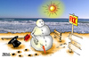 Cartoon: FKK (small) by besscartoon tagged schneemann,strand,meer,fkk,bess,besscartoon