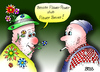 Cartoon: Flower Power (small) by besscartoon tagged flower,power,flauer,bauer,blumen,hippies,hip,60er,männer,bess,besscartoon