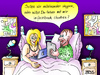 Cartoon: Gewissensentscheidung (small) by besscartoon tagged paar,beziehung,ehe,sex,facebook,skype,chatten,technik,computer,laptop,bett,erotik,bess,besscartoon