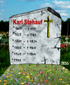 Cartoon: Karl Stehauf (small) by besscartoon tagged grab,grabstein,friedhof,tod,sterben,wiedergeburt,bess,besscartoon
