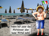 Cartoon: Krise (small) by besscartoon tagged italien,mittelmeer,krise,geld,strand,tourismus,meer,armut,bess,besscartoon