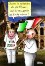 Cartoon: mit dem Latein am Ende (small) by besscartoon tagged rom,römer,italien,geschichte,latein,sprache,viva,italia,bess,besscartoon