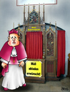 Cartoon: Müll-Sammelplatz (small) by besscartoon tagged kirche,religion,beichten,beichtstuhl,pfarrer,müll,abfall,katholisch,bess,besscartoon