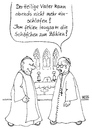 Cartoon: Schlafprobleme (small) by besscartoon tagged kirche,katholisch,papst,kirchenaustritt,pfarrer,schäfchen,bess,besscartoon