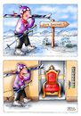 Cartoon: Sessellift (small) by besscartoon tagged winter,wintersport,sport,skifahren,fahrstuhl,schnee,lift,sessellift,sessel,bess,besscartoon
