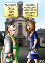 Cartoon: Stalking (small) by besscartoon tagged jesus,stalking,stalker,religion,liebe,pfarrer,christentum,kirche,katholisch,nachstellung,bess,besscartoon