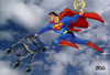 Cartoon: Superman ist 75 (small) by besscartoon tagged superman,film,kino,unterhaltung,fliegen,rollator,hollywood,bess,besscartoon