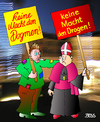 Cartoon: Zwiespalt (small) by besscartoon tagged religion,katholisch,dogmen,drogen,dogma,fixen,pfarrer,macht,bess,besscartoon