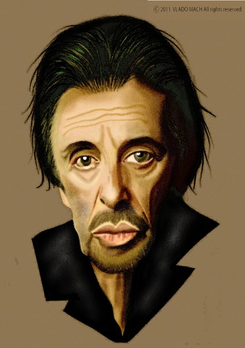 Cartoon: Al Pacino (medium) by Vlado Mach tagged al,pacino,actor,movie