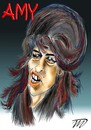 Cartoon: Amy (small) by Vlado Mach tagged singer,famous,amy