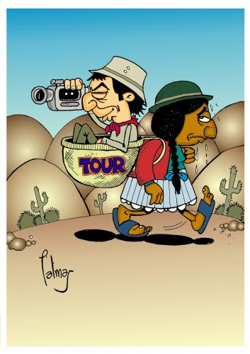 Cartoon: Turismo (medium) by Palmas tagged ecologico