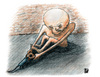 Cartoon: Hunger! (small) by Osama Salti tagged hunger,humanity,food,bread,rat,fight,eat,2008,poor