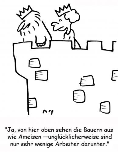 Cartoon: Ameisen (medium) by rmay tagged ameisen,könig