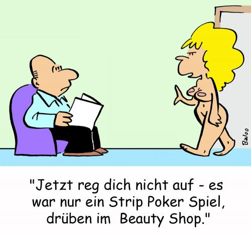 Cartoon: beauty shop nackt (medium) by rmay tagged beauty,shop,nackt
