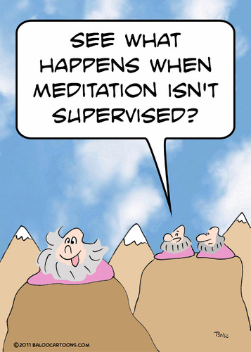 Cartoon: guru meditation not supervised (medium) by rmay tagged guru,meditation,not,supervised