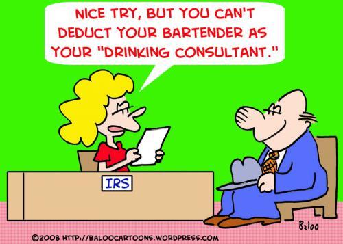 Cartoon IRS TAXES DRINKING CONSULTANT Medium By Rmay Tagged Irstaxes
