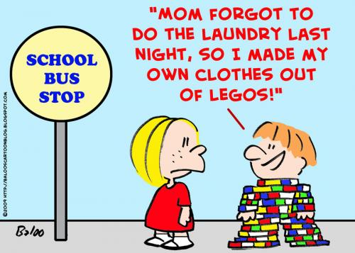 Cartoon: out of legos clothes mom (medium) by rmay tagged out,of,legos,clothes,mom