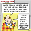 Cartoon: 1aa105SUGabsenteeballot (small) by rmay tagged absentee,ballot,obama,libya