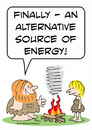 Cartoon: alternate source of energy cavem (small) by rmay tagged alternate,source,of,energy,caveman,fire