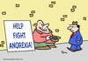 Cartoon: anorexia help fight panhandler (small) by rmay tagged anorexia help fight panhandler