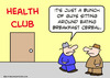 Cartoon: breakfast cereal health club (small) by rmay tagged breakfast,cereal,health,club