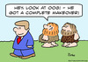 Cartoon: caveman complete makeover (small) by rmay tagged caveman,complete,makeover