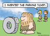 Cartoon: caveman invented parking ticket (small) by rmay tagged caveman,invented,parking,ticket