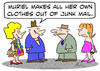 Cartoon: clothes junk mail (small) by rmay tagged clothes junk mail
