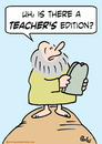 Cartoon: commandments moses teachers edit (small) by rmay tagged commandments,moses,teachers,edition