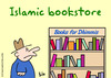Cartoon: dhimmis book store muslim (small) by rmay tagged dhimmis,book,store,muslim