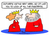 Cartoon: dissidents king queen mother loc (small) by rmay tagged dissidents,king,queen,mother,lock