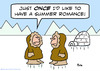 Cartoon: eskimo summer romance (small) by rmay tagged eskimo,summer,romance
