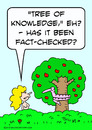 Cartoon: eve snake apple fact checked tre (small) by rmay tagged eve,snake,apple,fact,checked,tre