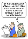 Cartoon: government zero population growt (small) by rmay tagged government,zero,population,growt