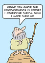 Cartoon: moses made up commandments (small) by rmay tagged moses,made,up,commandments