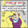Cartoon: roman polanski woody allen (small) by rmay tagged roman polanski woody allen