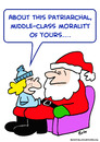 Cartoon: santa claus patriarchal morality (small) by rmay tagged santa,claus,patriarchal,morality