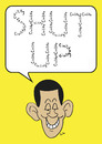 Cartoon: shut up obama civility (small) by rmay tagged shut,up,obama,civility